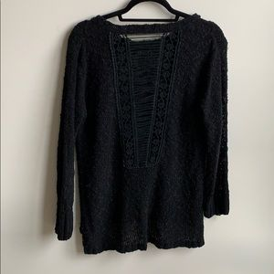 Anthropologie by Katsumi Open Woven Back Sweater M